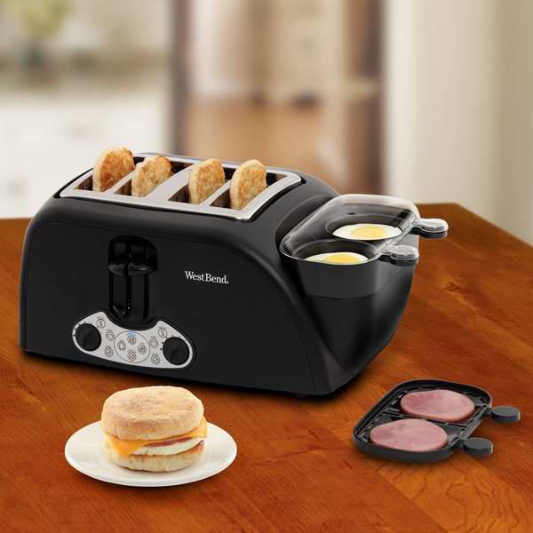 上班族的早餐利器!West Bend TEM4500W 多功能早餐机6.3折 83.48加元限时特卖并包邮!