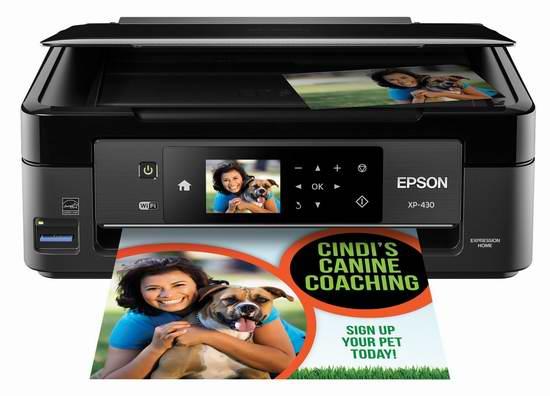 历史最低价!Epson 爱普生 XP-430 无线多功能彩色喷墨一体打印机5折 49.99加元限时特卖并包邮!