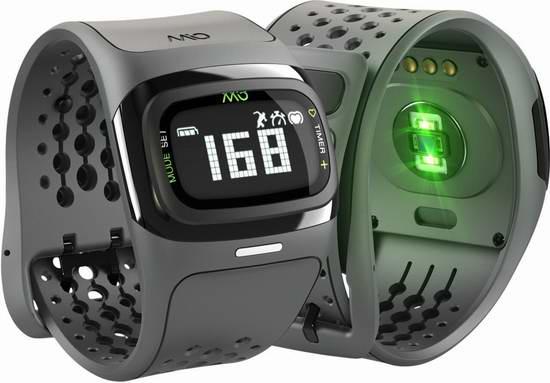 历史新低!Mio 迈欧 Alpha 2 阿尔法II 无胸带心率监测智能手环4.6折 110.49元限时特卖并包邮!