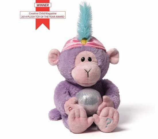 历史新低!曾荣获年度大奖!Gund Fortune 11英寸互动猴宝宝玩偶2折 7.85元限时清仓!