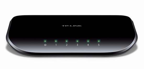 历史最低价!TP-LINK TL-SG105 5口全千兆以太网交换机5折 14.99元限时特卖!