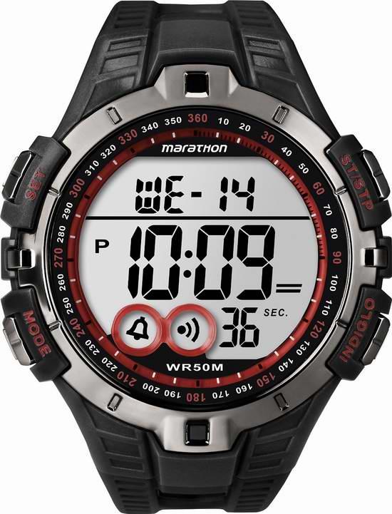 历史新低!Timex 天美时 马拉松系列 T5K4239J 男式电子腕表3.2折 19.81元限时特卖并包邮!