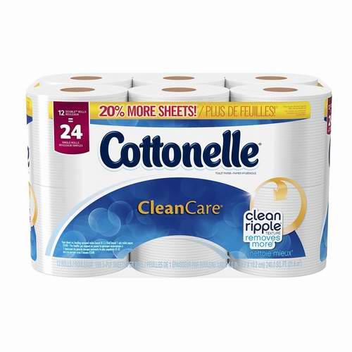 Cottonelle Clean Care 12卷卫生纸 5.98元限时特卖!
