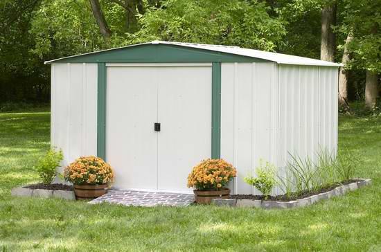 售价大降!历史新低!Arrow Shed Arrow Hamlet HM 10x8英尺钢制庭院储物棚屋3.5折 249.97元限时特卖并包邮!