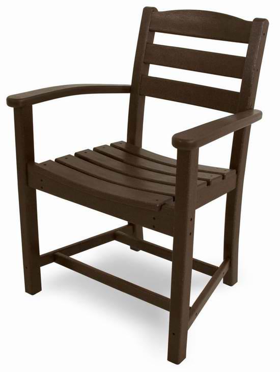 售价大降!历史新低!POLY-WOOD TD200MA La Casa 商用级休闲扶手椅3.6折 60元限时特卖并包邮!