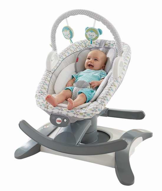 Fisher-Price 费雪 四合一多功能婴儿摇篮/安抚座椅5折 79.99元限时特卖并包邮!