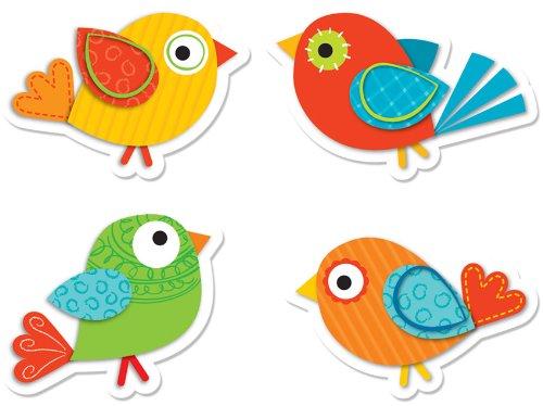 Boho Birds 卡通鸟贴纸72件套0.4折 1元限时清仓!