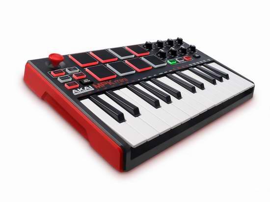 历史新低!Akai Professional MPK Mini MKII 25键MIDI控制器/MIDI键盘5.4折 99.99元限时特卖并包邮!