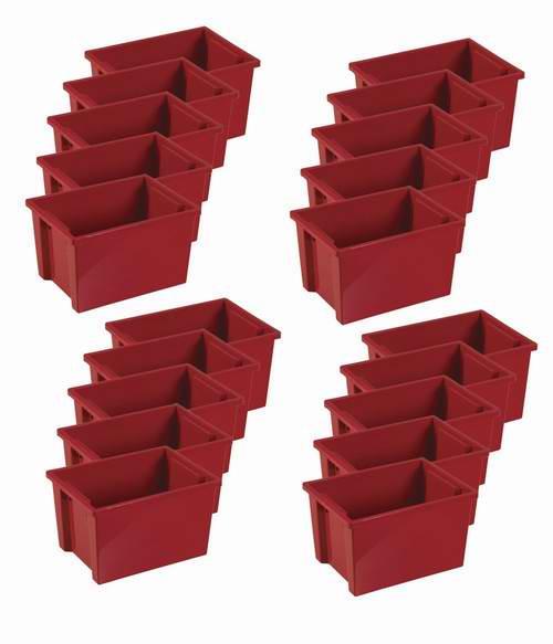 历史新低!ECR4Kids 红色大号收纳箱20件套2.3折 47.02元限时清仓并包邮!