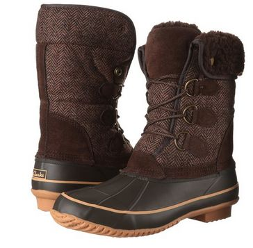 Clarks Mayfern Star 女式时尚冬靴2折 28.43元起限时清仓并包邮!