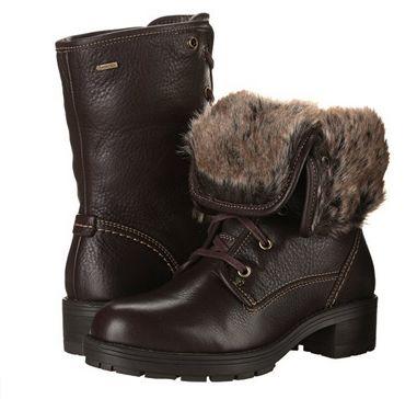 Clarks Reunite-Up GTX 女士时尚真皮冬靴1.7折 45.46元起限时清仓并包邮!