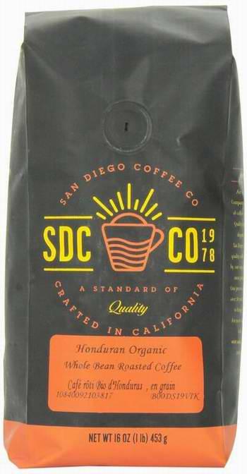 售价大降!历史新低!San Diego Coffee 洪都拉斯有机小果咖啡豆2磅 2折6.98元限时清仓!