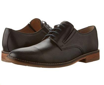 Hush Puppies Otis Style 男士黑色系带皮鞋2.5折 44.06元起限时清仓并包邮!