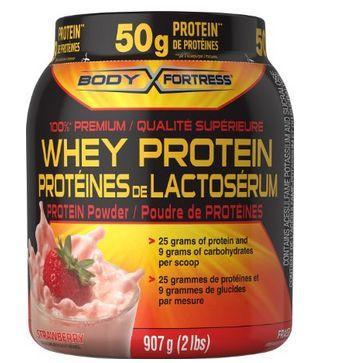 Body Fortress 乳清蛋白粉2磅  17.99元限量特卖,原价 23.99元,多种口味可选!