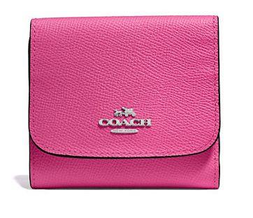 Coach 女士时尚斜纹皮革小型钱包 60.37元,原价 115元