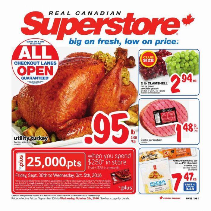 Superstore超市本周(2016.9.30-2016.10.6)打折海报
