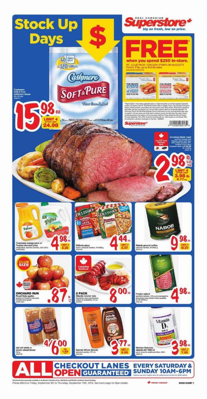 Superstore超市本周(2016.9.9-2016.9.15)打折海报