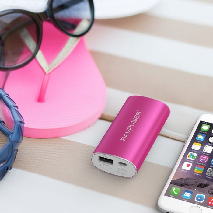 RAVPower 6700mAh 便携式移动电源充电宝 17.67元限量特卖(4色可选),原价 20.79元