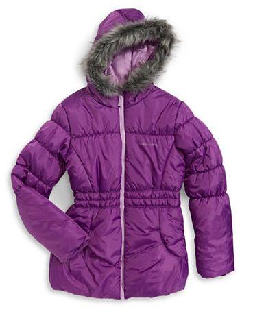 CALVIN KLEIN Glacial 女童连帽保暖外套 51.97元特卖(2色可选),原价 99元