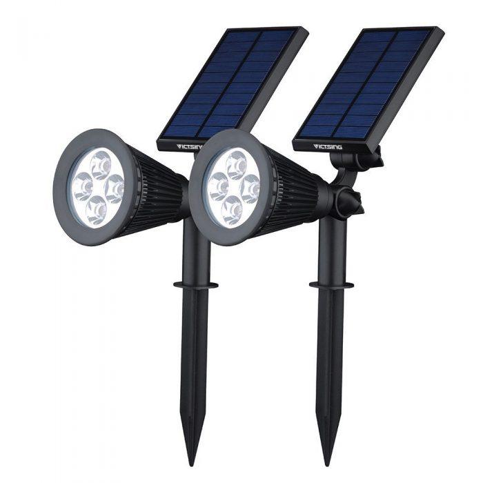 升级版! VicTsing 2合1 户外防水太阳能供电LED射灯 2件套 29.15元,原价 38.99元,包邮