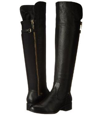 Calvin Klein GLADYS2 女款真皮长筒靴 79.61元起(2色可选),原价 517.4元,包邮