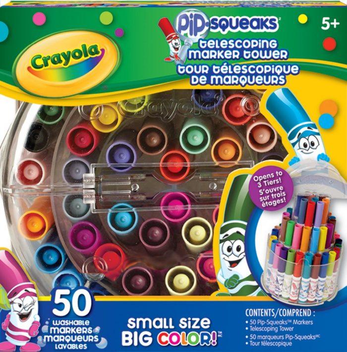 Crayola 可伸缩迷你马克笔 50支套装 12.99元特卖,原价 16.99元