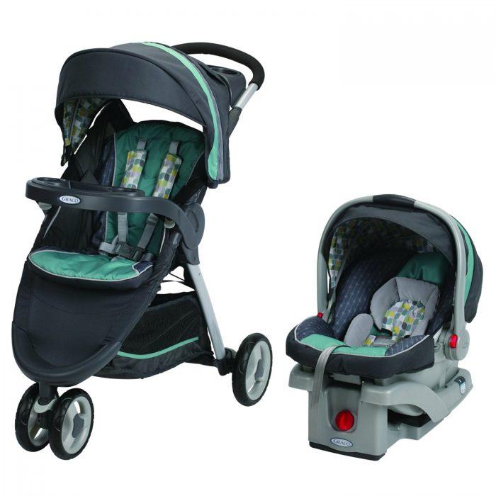 历史新低!Graco FastAction 三轮婴儿推车 + 旅行车载提篮组合 359.97元,原价 489.96元,包邮