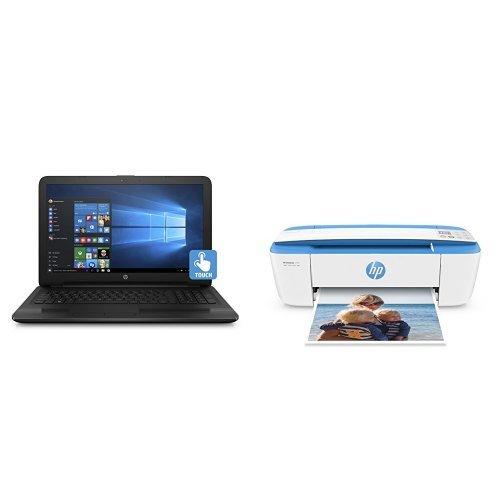 HP 惠普 15.6寸 Touchscreen 触屏笔记本(6GB内存、1TB硬盘)+ 新款全球最小 HP DeskJet 3755 多功能一体无线喷墨打印机超值套装 499.99元限时特卖并包邮!