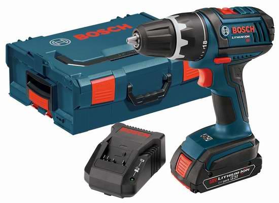历史新低!Bosch 博世 DDS181-102L 18伏紧凑型起子/电钻套装5折 121.45元限时特卖并包邮!