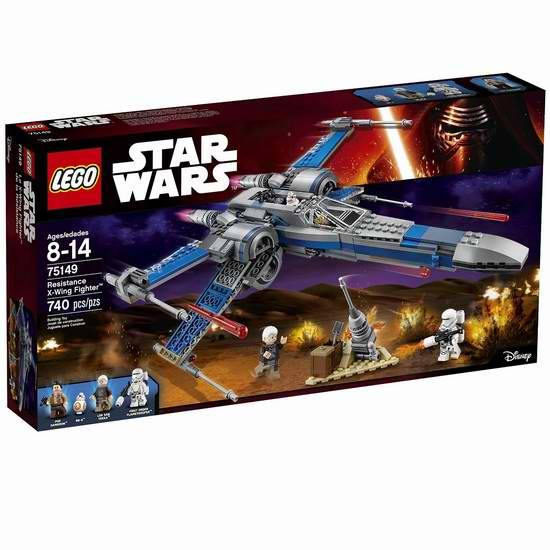 LEGO 乐高 75149 星球大战系列 防御力量 X-翼战斗机积木套装 79.98加元限时特卖并包邮!