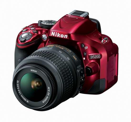 历史新低!Nikon 尼康 D5200 单反相机套装(AF-S DX 18-55mm f/3.5-5.6G VR II 尼克尔镜头)7.4折 539.99元限时特卖并包邮!