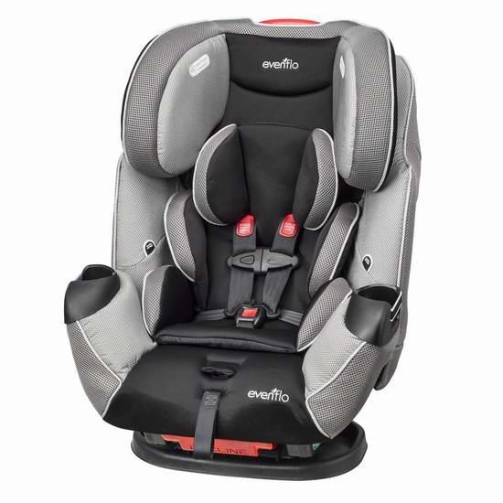 历史最低价!Evenflo Symphony LX 三合一成长型儿童汽车安全座椅 199.99加元限时特卖并包邮!