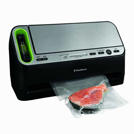 延长5倍保鲜期!FoodSaver V4400 二合一全自动真空密封食物保鲜机7.5折 149.5元限量特卖并包邮!