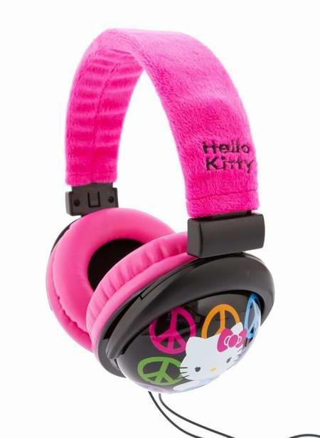 历史新低!Sakar 35009-PNK-WAL-P Hello Kitty 儿童粉红头戴式耳机3.1折 7元限时清仓!