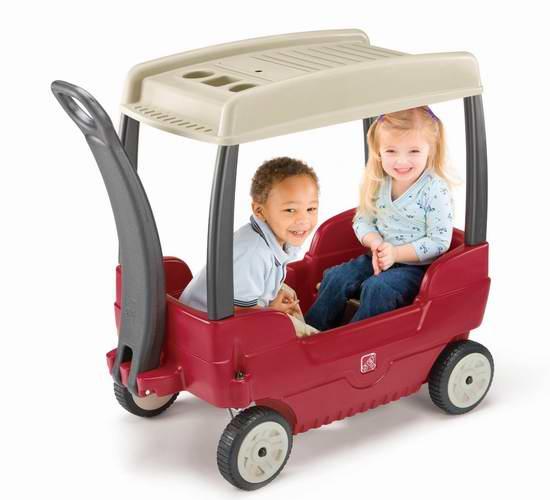 售价大降!Step2 Canopy 带顶棚儿童双人四轮拖车5.5折 84.97加元限时特卖并包邮!