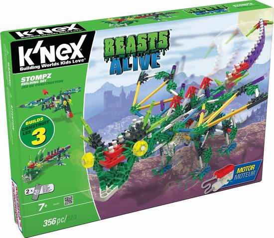 Knex Beasts Alive Stompz 电动怪兽拼插积木套装 22.83加元限时特卖!