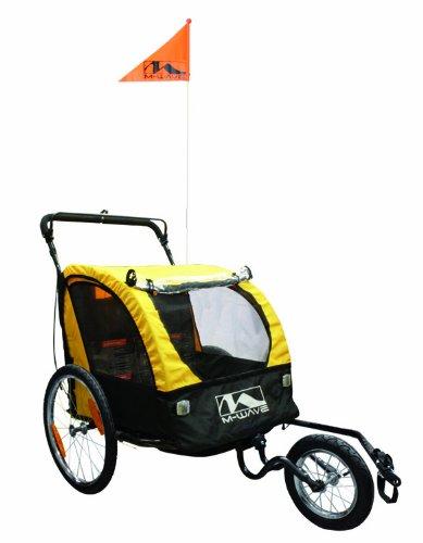 历史新低!M-Wave 二合一双人座儿童推车/自行车拖车4折 169.91元限时清仓并包邮!