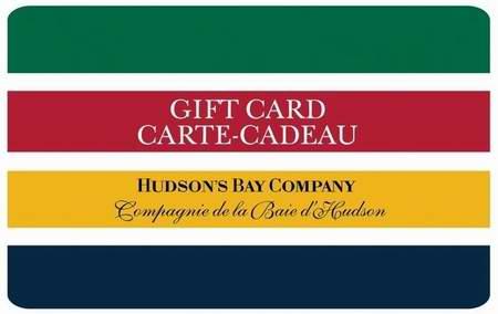 Hudson's Bay、Sport Chek 礼品卡 95元特卖,原价 100元,包邮