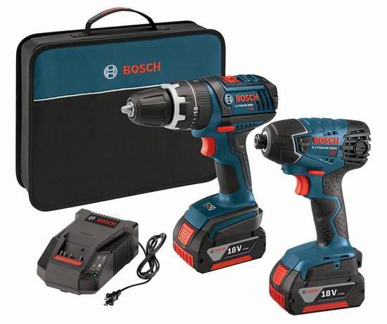 历史最低价上再额外立减100元!Bosch 博世 CLPK237-181 18伏紧凑型电锤/电钻、冲击起子机套装3.6折 179元限时特卖并包邮!