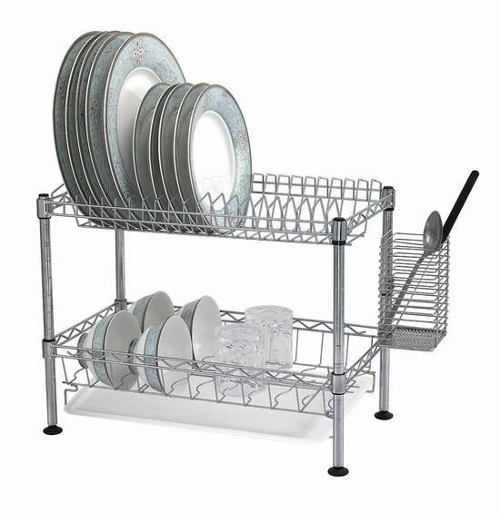 历史新低!Sandusky Lee WDR101812 双层不锈钢碗碟滤水架6.2折 39.77元限时特卖并包邮!