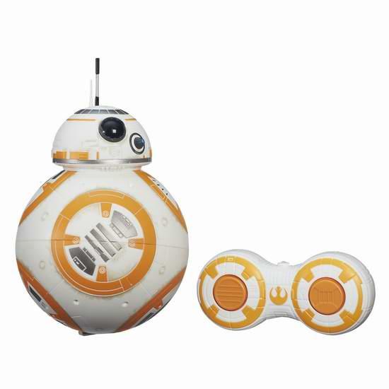 历史新低!Hasbro 孩之宝 星球大战前传VII RC BB-8 遥控机器人玩具6.4折 51.12元限时特卖并包邮!
