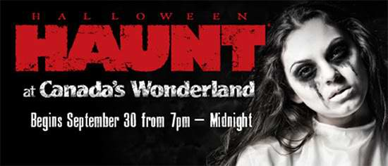 Canada's Wonderland 奇幻乐园 万圣节鬼屋活动门票32.99元特卖,再送1张daytime门票!