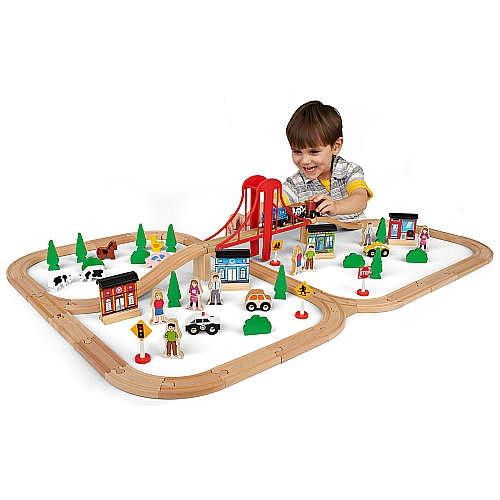 Imaginarium 木质小火车玩具80件套6折 29.97元限时特卖并包邮!