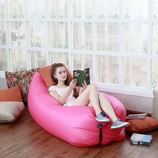 Creaker 快速充气躺椅/睡袋/沙发 48.99元限时特卖并包邮!4色可选!
