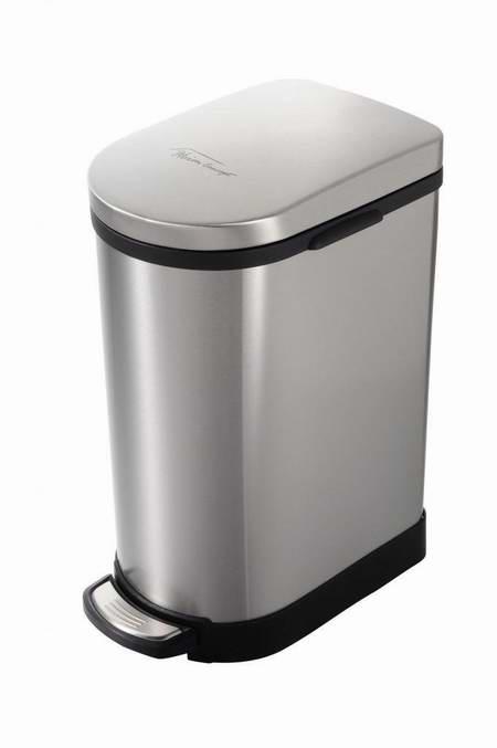 历史新低!Heim Concept 2.6加仑脚踏式拉丝不锈钢垃圾桶2.4折 43.98元限时特卖并包邮!