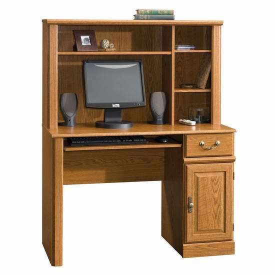 售价大降!历史新低!Sauder Orchard Hills 橡木色电脑桌3.9折 144.35元限时特卖并包邮!