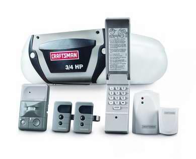 精选3款 CRAFTSMAN 0.5-0.75马力带式驱动可遥控车库开门器5.4折限时特卖并包邮!