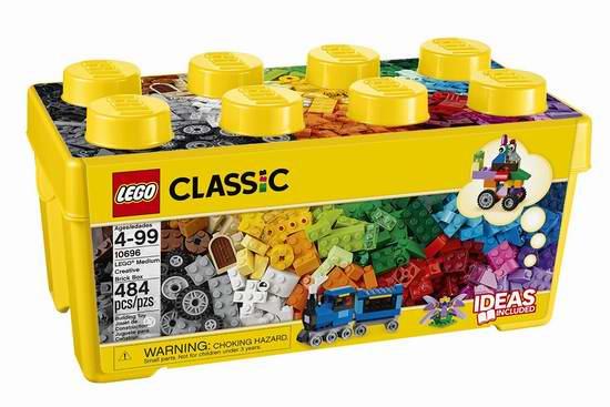 LEGO 乐高 10696 经典创意系列中号积木盒(484pcs)5.1折 23.98加元!