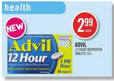 免费购买 Advil 12 hour 布洛芬12小时缓释片!