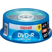历史最低价!Maxell DVDR SPN 16倍速DVD刻录光盘15张3.3折 5.99元限时特卖!